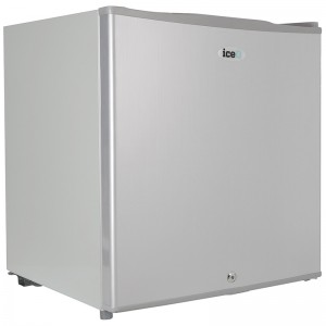 iceQ 48 Litre Table Top Lockable Fridge - Silver