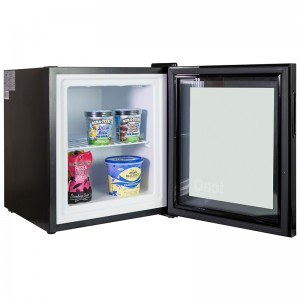 iceQ 36 Litre Counter Top Glass Door Display Mini Freezer
