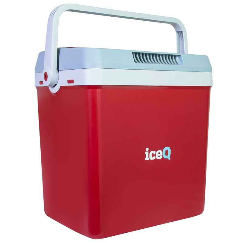 Iceq 32 Litre Electric Cool Box Red Electric Cool