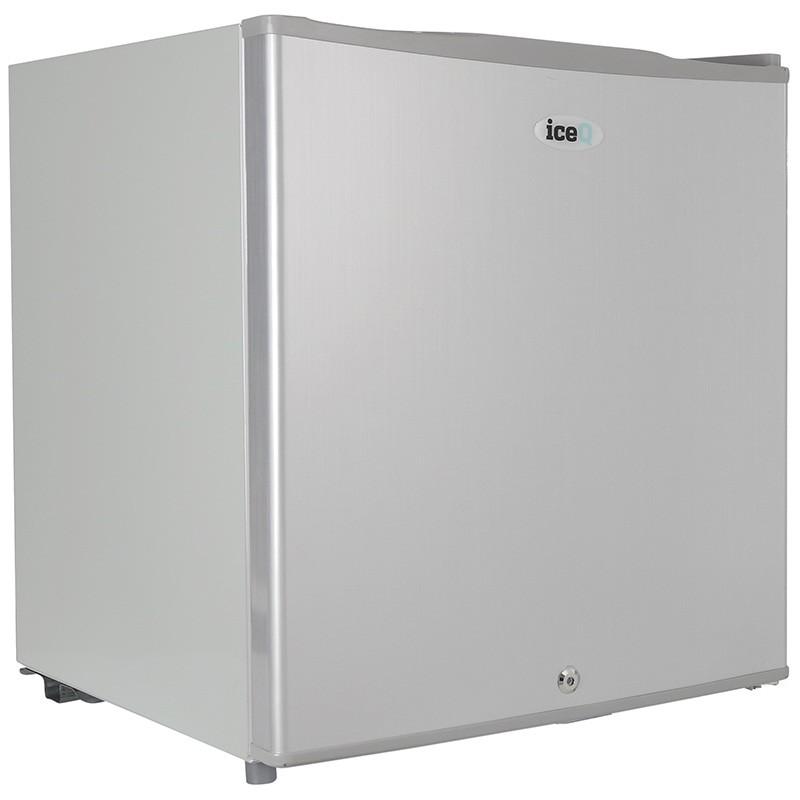 iceq 48 litre table top lockable fridge silver small. Black Bedroom Furniture Sets. Home Design Ideas