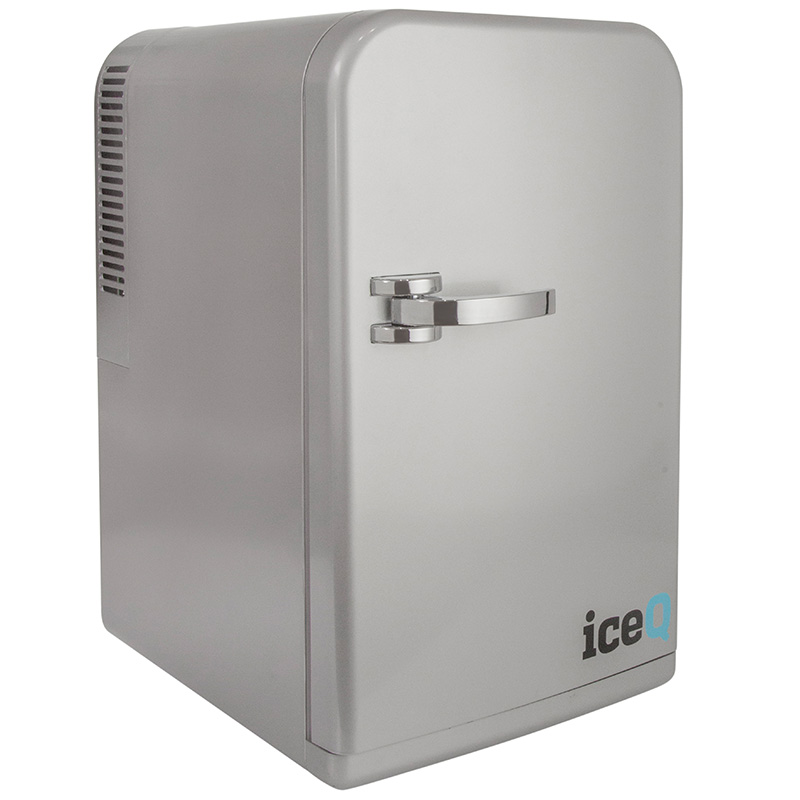 Click to view product details and reviews for Iceq 15 Litre Deluxe Portable Mini Fridge Silver.