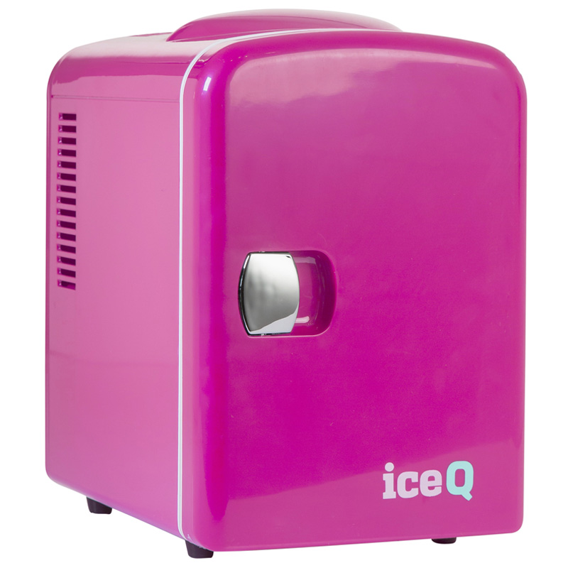 Click to view product details and reviews for Iceq 4 Litre Mini Fridge Pink.