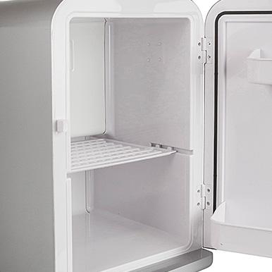 Iceq 15 Litre Deluxe Portable Mini Fridge Silver