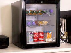 iceQ 49 Litre Drinks Glass Door Fridge - Black