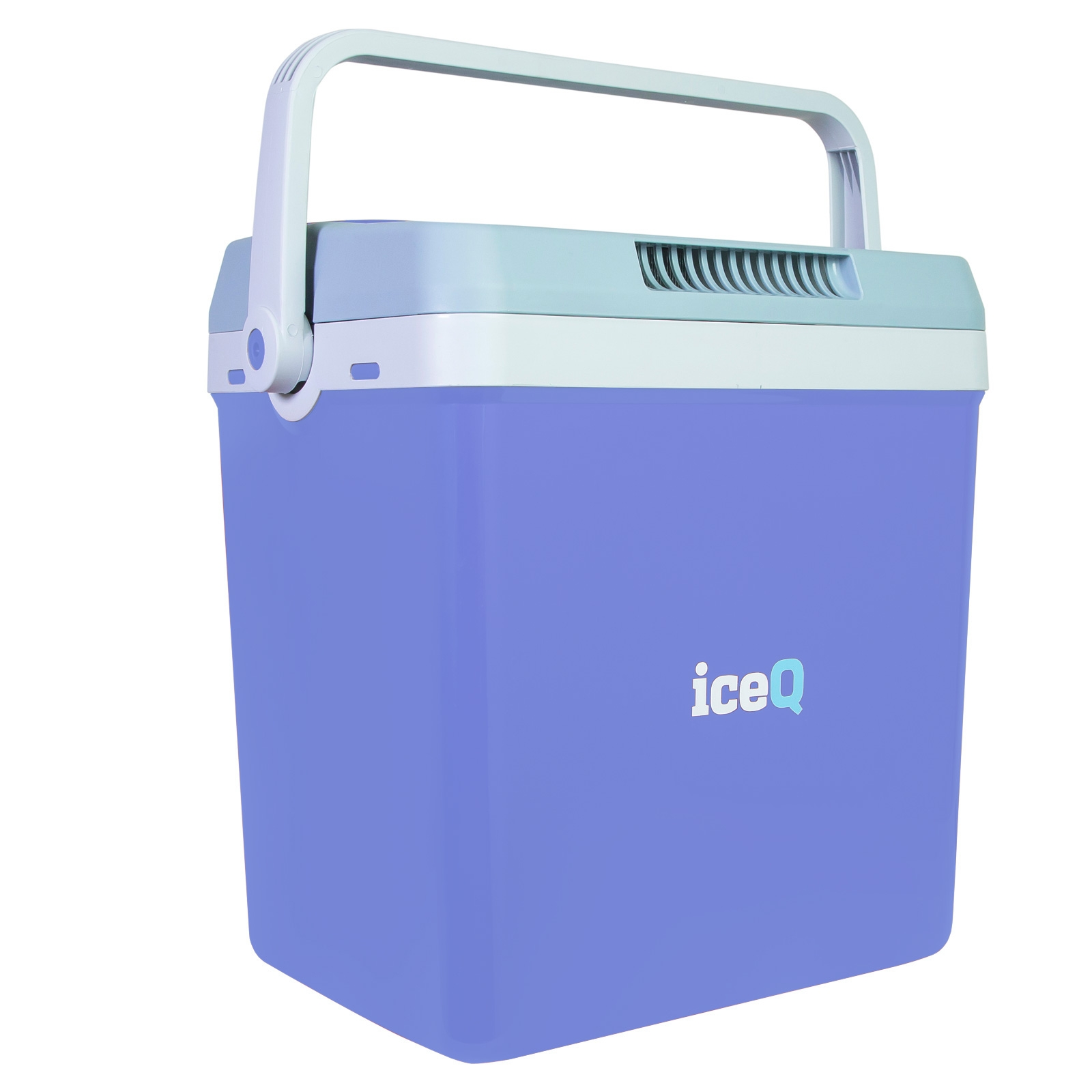 Click to view product details and reviews for Iceq 32 Litre Electric Cool Box Blue.