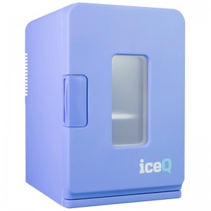 iceQ 15 Litre Deluxe Portable Mini Fridge With Window - Blue - Clearance - C