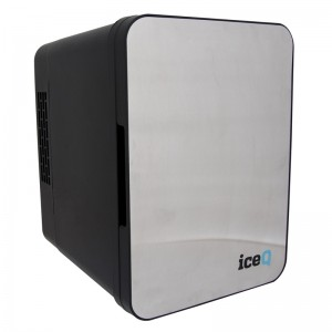 iceQ 4 Litre Mini Fridge - Stainless Steel - Black - Clearance - C