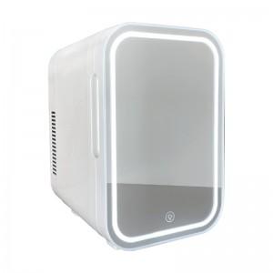 iceQ 6 Litre Mini Fridge - Mirrored LED - White