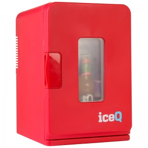 iceQ 15 Litre Deluxe Portable Mini Fridge With Window - Red