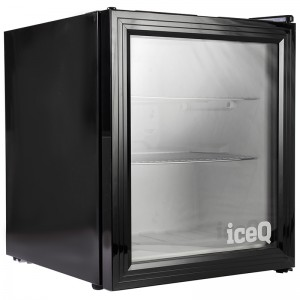 iceQ 49 Litre Drinks Glass Door Fridge - Black