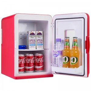 iceQ 15 Litre Deluxe Portable Mini Fridge With Window - Red - Clearance - B