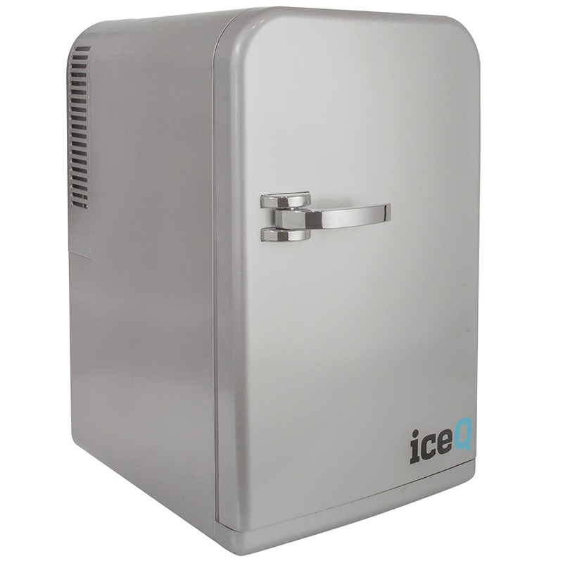 Iceq 15 Litre Deluxe Portable Mini Fridge Silver