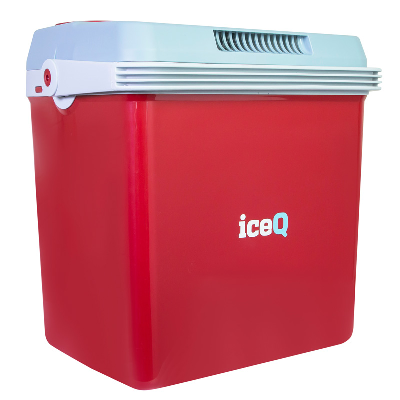 Iceq 32 Litre Electric Cool Box Red