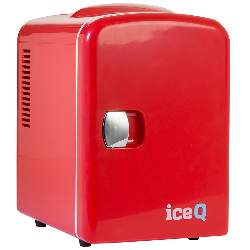 Click to view product details and reviews for Iceq 4 Litre Mini Fridge Red.