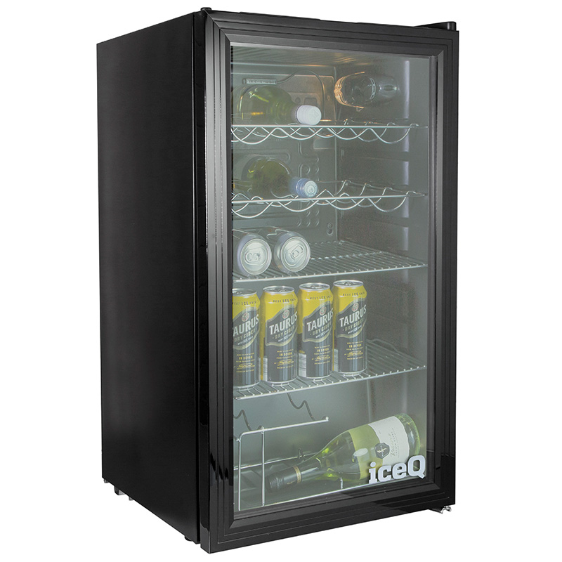 Click to view product details and reviews for Iceq 93 Litre Under Counter Glass Door Display Fridge.