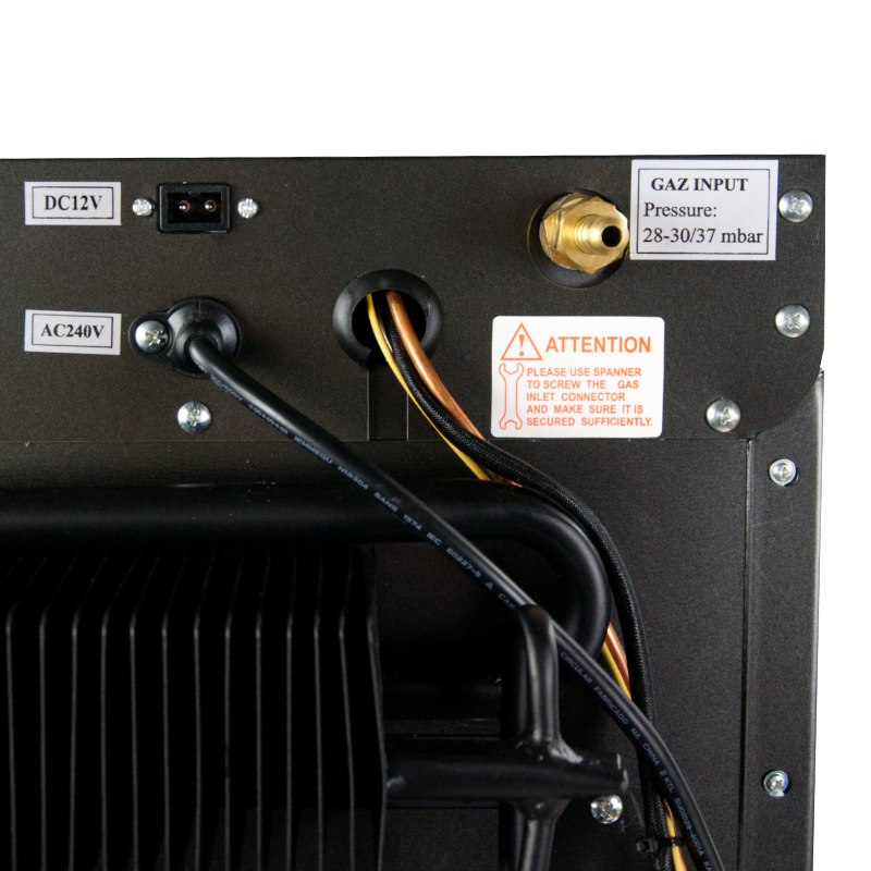 UK Mains, 12V or Gas Operation Using The Control Panel